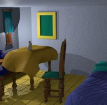 La habitación de Vermeer. Um projeto de 3D, Animação, Arquitetura, Artes plásticas, Arquitetura de interiores e Design de interiores de Miguel Camacho Gordaliza - 09-09-2017