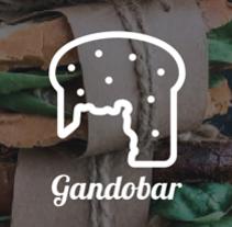logotipo para la bocadillería Gandobar, Aeropuerto de Gran Canaria. Un proyecto de Diseño, Br, ing e Identidad y Diseño gráfico de LLO_ Lidia Lobato - 11-06-2017