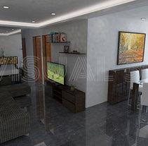 reforma piso . Un proyecto de 3D, Animación, Arquitectura, Arquitectura interior y Diseño de interiores de jordi reglá - 19-09-2017