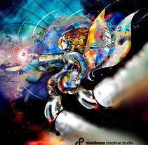 Angel del espacio, ilustración realizada por Donibane Creative Studio. Un proyecto de Ilustración de Mikeldi Sanjuan - 20-09-2017