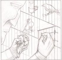 el criador de canarios. Um projeto de Ilustração de Carlos Pinel Plaza         - 22.09.2017