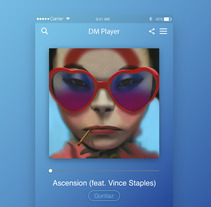 Music Player UI . A Design, and UI / UX project by Derck Michel         - 26.09.2017