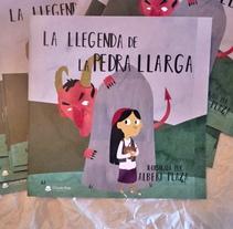 Mi Proyecto del curso: La Llegenda de la Pedra Llarga (La leyenda de la piedra larga). Um projeto de Ilustração e Ilustración vectorial de Albert Plaza Nualart - 27-09-2017