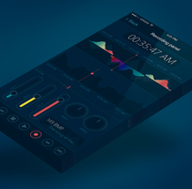 Professional sound recording application. Um projeto de Design de jogos e Design gráfico de Iván Prieto Garrido         - 04.10.2017