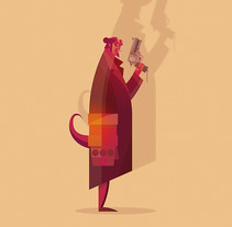 Hellboy Fan Art. A Illustration, and Vector illustration project by Ricardo Polo López - 05-10-2017