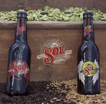 Packaging cerveza SOL. A Advertising, Art Direction, Br, ing, Identit, and Packaging project by Jorge López         - 16.10.2017
