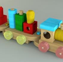 Tren de juguete en 3D. Um projeto de Design e 3D de Edith Llop Roselló         - 17.07.2017