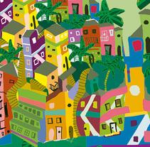 Mapa Ilustrado de Río de Janeiro.. A Illustration project by Mercurial  Indigo - 17-10-2017