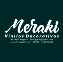 Meraki - Vinilos Decorativos. A Animation, and Lettering project by Federico Biagioli         - 26.10.2017