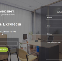 Landing page para Ascent. A Web Design, and Web Development project by Maylin Sanabria - 28-10-2017