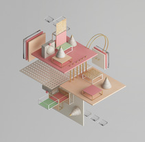 ISOMETRIC SHAPES Vol. I. A Illustration, 3D, and Art Direction project by Javier Torres - 03-11-2017