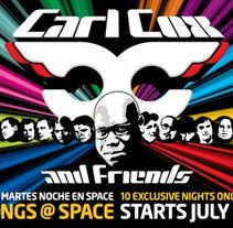 Carl Cox . Space Ibiza. A Graphic Design project by paolanosbookings - 03-11-2003