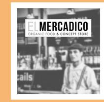 EL MERCADICO. Un proyecto de Diseño, Br, ing e Identidad, Diseño gráfico, Diseño de iconos y Diseño de pictogramas de María sanz         - 05.11.2017