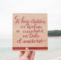 Lettering in wood. A Crafts, and Lettering project by Alba Luis Riera - 05-11-2017