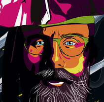 Pirata 4 ojos. A Illustration, and Vector illustration project by Pedro Luis Parreño García         - 12.11.2017