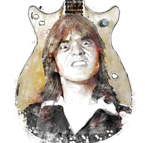 Malcolm Young. A Illustration project by Kike Lucas Abreu         - 20.11.2017