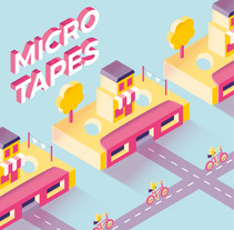 Micro Tapes. A Design, Illustration, Graphic Design, T, pograph, and Vector illustration project by Silvia  Rojas - 20-11-2017