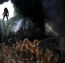 Fotomontaje Alien/Predator. A Design project by Miguel José Tejero Bohórquez         - 21.11.2017