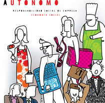 Campaña Promoción del Trabajo Autónomo. Um projeto de Ilustración vectorial de Manu Díez         - 01.01.2013