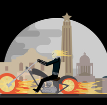 Ghost Rider. A Illustration, Graphic Design, and Vector illustration project by Daniel Diaz Estrada - 28-11-2017