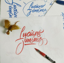 LETTERING Y CALIGRAFÍA . A Photograph, Calligraph, and Lettering project by Luciano  Jiménez Dionicio - 30-11-2017