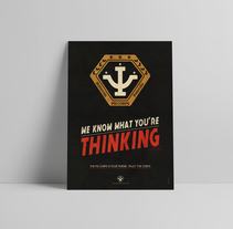 Babylon 5 poster - Psi Corps. A Graphic Design project by Rubén Megido         - 01.12.2017