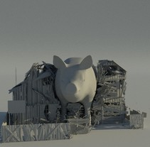Destrucción ncloth. Un proyecto de 3D de Astrid Mayor         - 01.12.2017