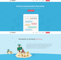 Teem landing page. A Illustration, and Web Design project by Six Design         - 04.12.2017