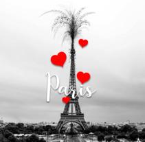 Eiffuel Tower (Paris mon amour). Un proyecto de Ilustración y Bellas Artes de Junio Hazar         - 10.12.2017
