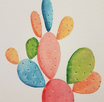 Cactus de colores. A Painting project by Marina Benito         - 18.12.2017