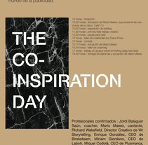The Co-inspiration Day (networking). A Graphic Design project by Helena Garriga Gimenez         - 04.04.2015