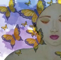 Mi Proyecto del curso: Retrato ilustrado en acuarela. Um projeto de Ilustração de Andrea G. Morales         - 29.12.2017