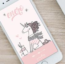 Fondo de pantalla para smartphone. Un proyecto de Ilustración vectorial de Diseñadora Gráfica - 02-01-2018