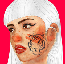 Emily Bador: Retrato ilustrado en acuarela. A Illustration, Fine Art, and Calligraph project by Javier Piñol         - 09.01.2018