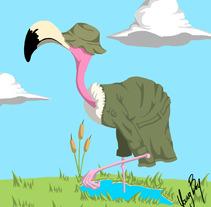 flamingo. Um projeto de Ilustração de Sergi Rovira Braulio         - 09.01.2018