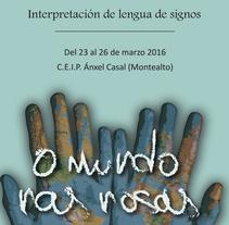 Semana cultural lenguaje de signos. Un proyecto de Diseño gráfico de Cristina Rodríguez Gómez         - 09.01.2018