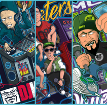 Hip Hop-Rap-Mc-Dj. A Design, and Vector illustration project by Mr Nejo         - 12.01.2018