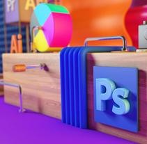 Espacio Adobe. Um projeto de 3D de Miryam León         - 15.01.2018