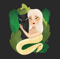 La niña de la selva. Un proyecto de Ilustración, Diseño de personajes, Diseño editorial y Bellas Artes de lorena sanchez roman - 15-01-2018
