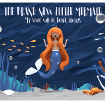 LOWPOLY SCENE-THE BRAND NEW LITTLE MERMAID. A Illustration, and 3D project by Catuxa Barreiro         - 19.01.2018