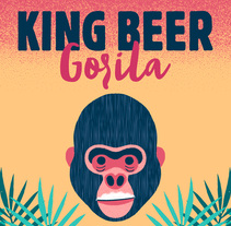 King Beer Gorila. A Design, Illustration, and Art Direction project by Daniel Diosdado         - 15.09.2017