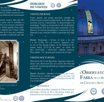 Tríptico para l'Observatori Fabra. A Editorial Design, Graphic Design&Information Design project by Marr          - 01.03.2017