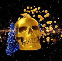 skull 3d particulas. Um projeto de 3D de ENMANUEL RONDON         - 07.02.2018