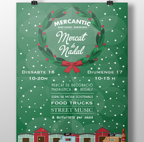 Cartel: Programación de navidad. Un proyecto de Diseño gráfico e Ilustración vectorial de Sara Caride Carrera         - 22.11.2017
