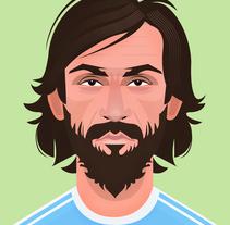 Football Stars. Um projeto de Design de personagens e Ilustración vectorial de Oscar MoMad         - 11.02.2018