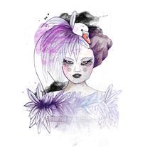 Ilustración moda inspirada en la colección Haute Couture de Coco Chanel. A Illustration project by Sara  Diego         - 13.02.2018