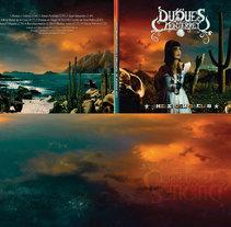 Duques de Monterrey Album Cover Matte painting.. Um projeto de Ilustração de Paco Serén         - 13.02.2018