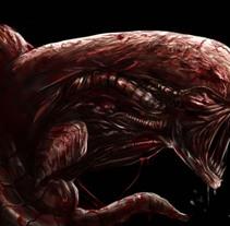 Alien chestburster + Speedpaint. Un proyecto de Ilustración de AdrianArt         - 01.03.2018
