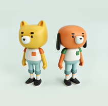 Moñequitos. A 3D, Character Design, To, and Design project by Alberto Pozo         - 20.02.2018