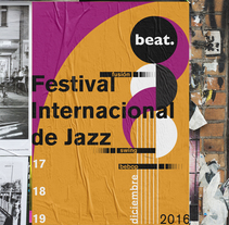 Beat - Festival Internacional de Jazz. A Design, Br, ing, Identit, and Vector illustration project by Mariana Castelli         - 28.02.2018